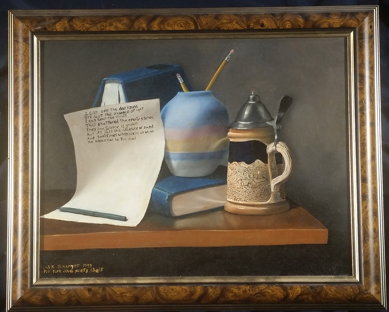 Still Life on a Poet's Shelf by Mark Jungmeyer