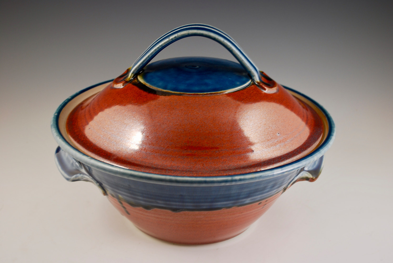Rust Red Casserole with Blue Ash by Mark  Goertzen
