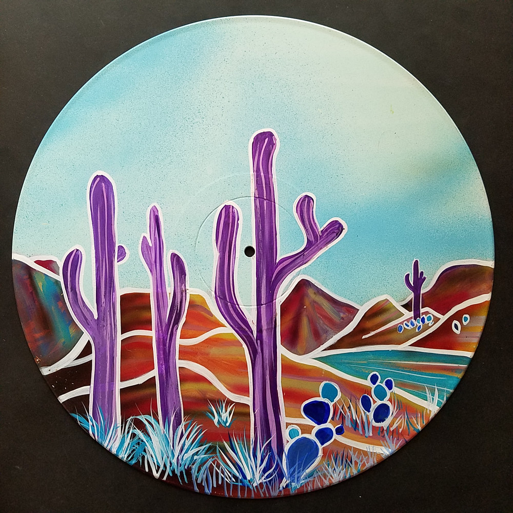 Purple Saguaros by Isaac Carpenter