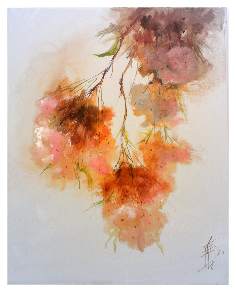 Blossom 5 50x40cm acrylic on canvas by Anne Farrall Doyle