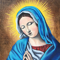 Acrylic painting Mother Mary by Stuart  Sampson