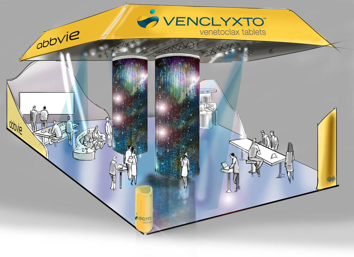 Booth designs for doctors pharmaceutical convention by Allen Wittert