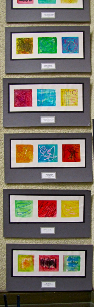 Gr.1-Color of Emotion in oil pastel and watercolor by Linnie (Victoria) Aikens Lindsay