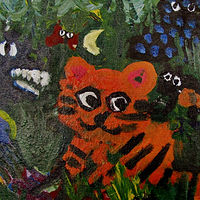 Gr.1- Rousseau Acrylic on Canvas Board Painting by Victoria Avila
