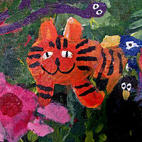 Gr.1- Rousseau Acrylic on Canvas Board Painting  by Linnie (Victoria) Aikens Lindsay