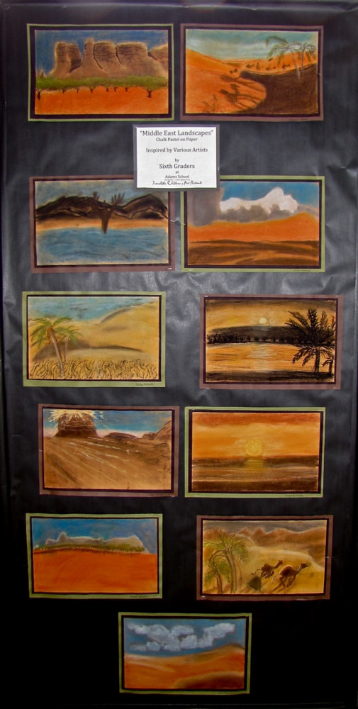 Gr. 6 - Ancient Civilizations - Middle East Landscapes - Chalk Pastel by Victoria Avila