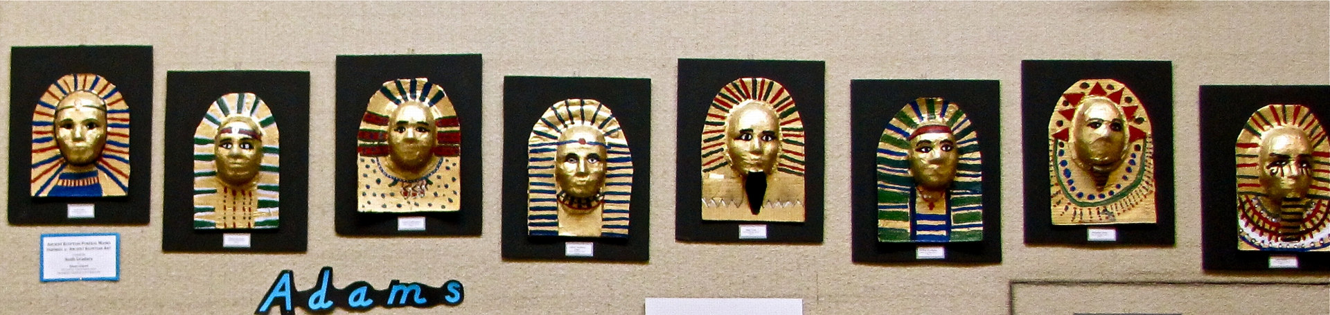 Gr. 6 - Ancient Civilizations - Egyptian Funeral Masks by Linnie (Victoria) Aikens Lindsay