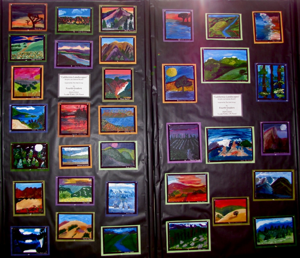 Gr.4-CA Landscapes in Acrylic on Canvas by Victoria Avila