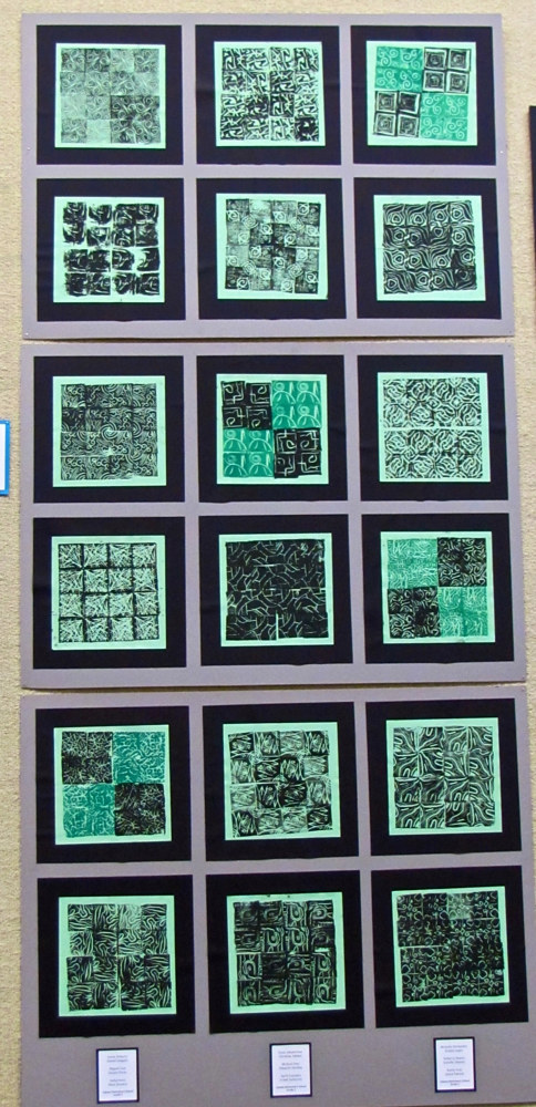 Gr.5- Tiling Printmaking using different types of symmetry by Victoria Avila