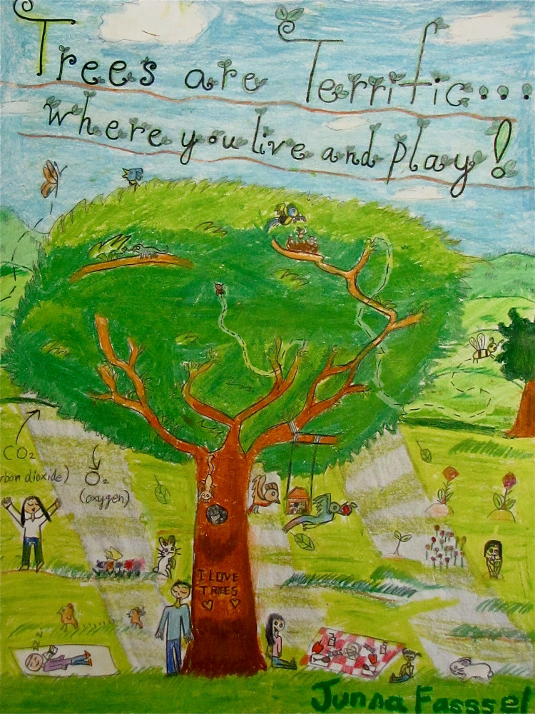 Grade 4: Arbor Day Community Art Competition by Linnie (Victoria) Aikens Lindsay