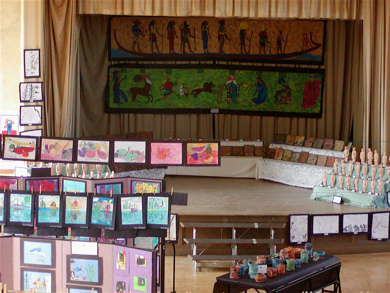 Gr. 6 - Ancient Civilizations - Egyptian Murals (far back) by Linnie (Victoria) Aikens Lindsay