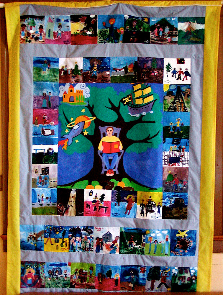 Gr.5- U.S. History - Cultural Heritage - Acrylic quilt squares by Victoria Avila