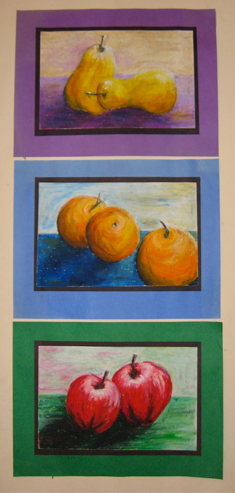 Teaching Still Life and Shading to 3rd graders by Victoria Avila