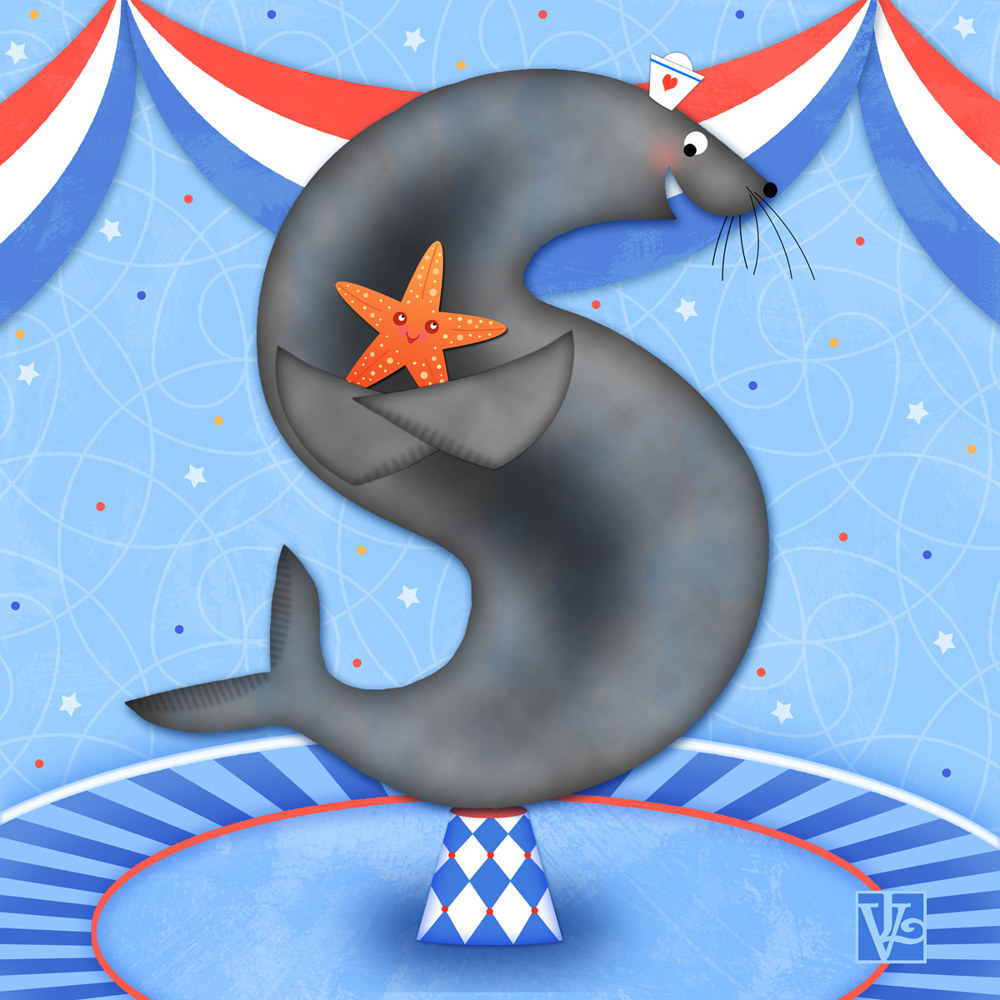 S is for Seal and Starfish by Valerie Lesiak