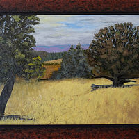Oil painting View in Turner Oregon by Frans Geerlings