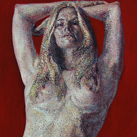 Acrylic painting Danielle by David Yawman