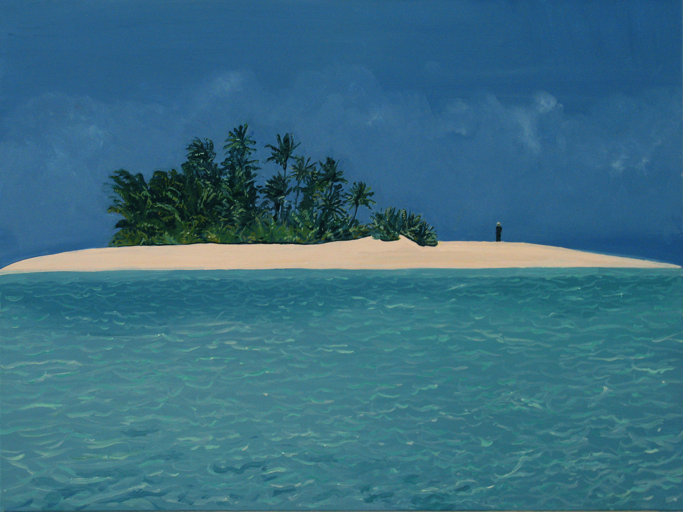 2008, Imagine Andy Warhol on a Desert Island, 30x40 inches, oil on canvas by David  Maxim