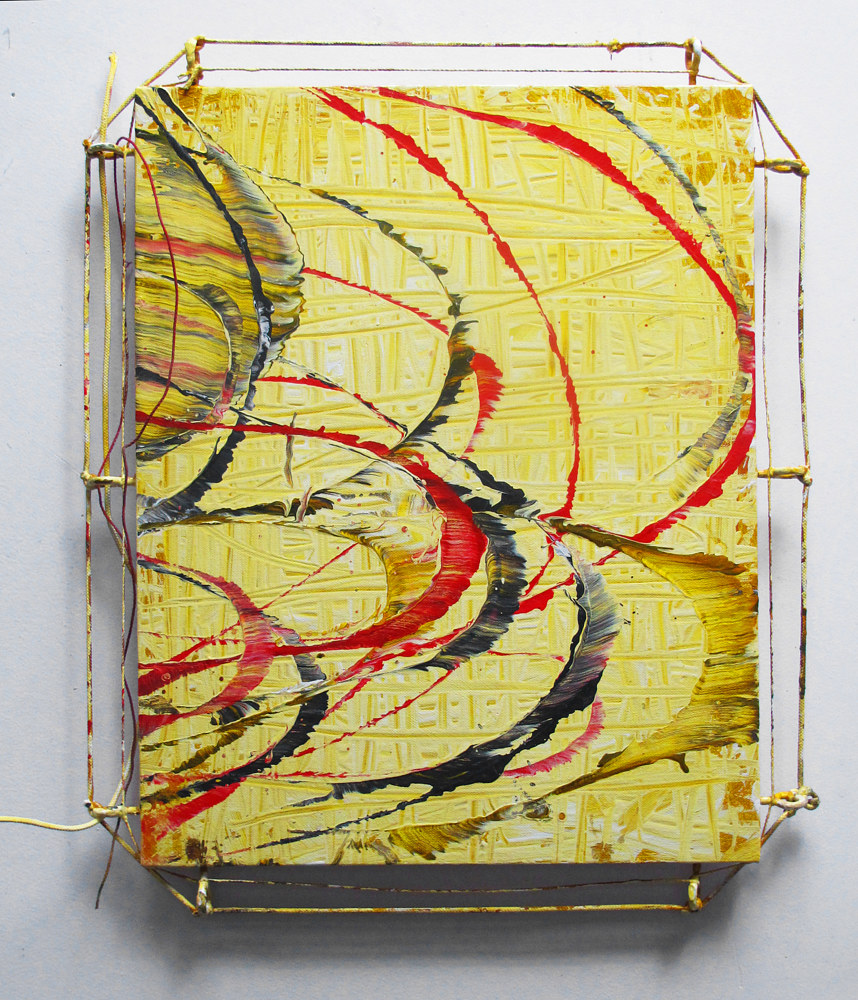 2015, String Painting #4, c.23 x 21 in. (4) by David  Maxim