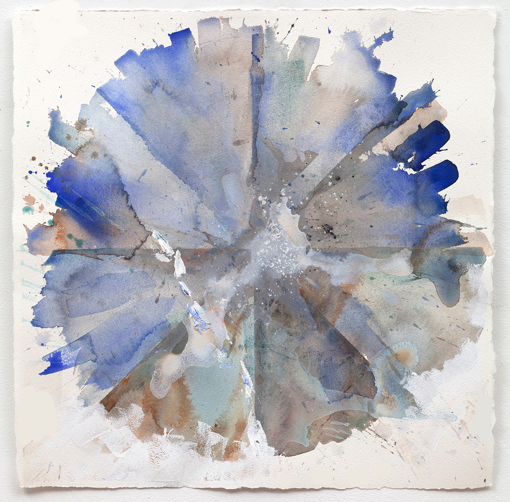 Watercolor Round Dance #16 by Clare Asch