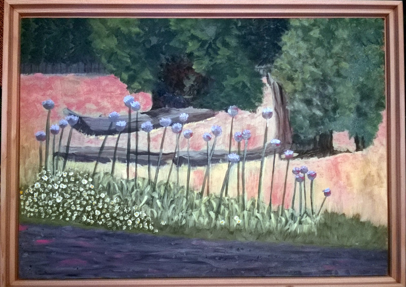Oil painting The Garlic Patch by Frans Geerlings