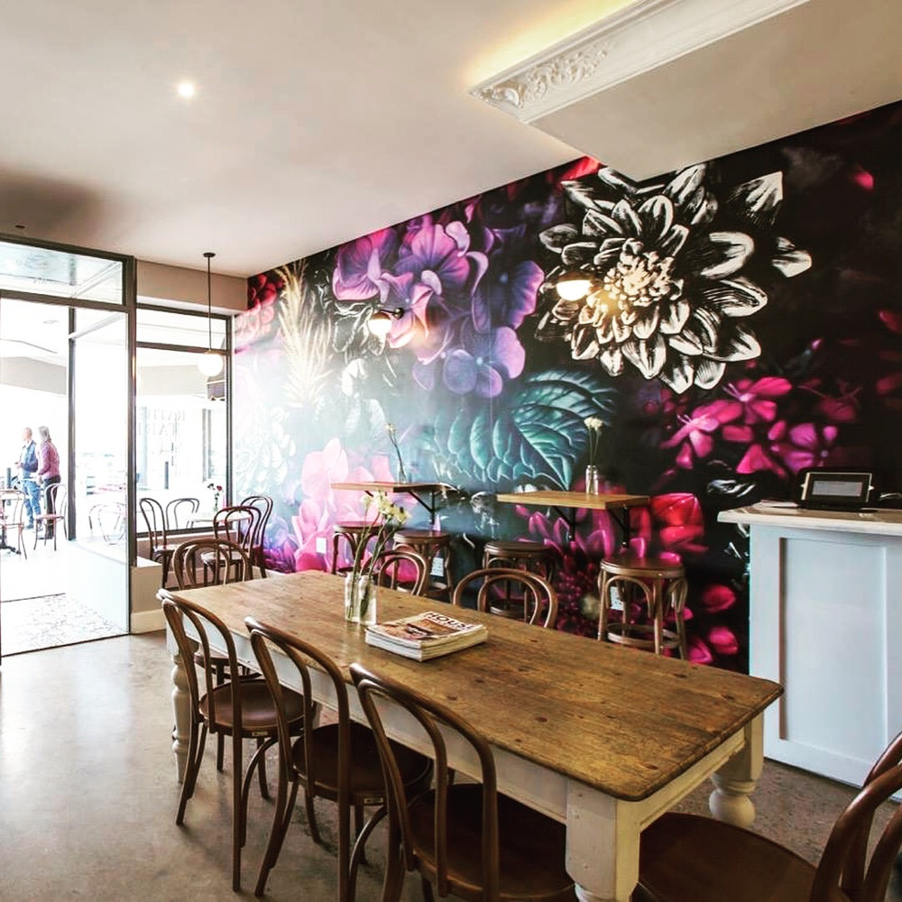 Floral Mural @ Rather Tart by Hendrik Gericke