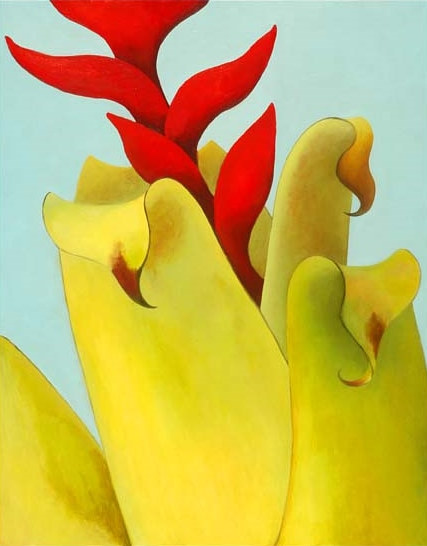 Oil painting Upward by Laurie Flaherty