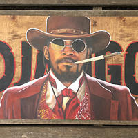 Acrylic painting Django by Stuart  Sampson