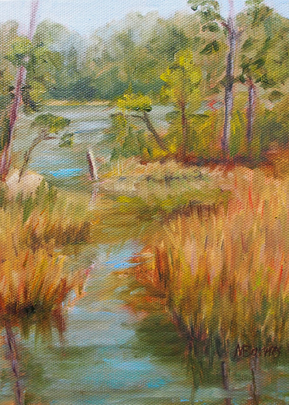 Oil painting Owl's Creek by Michele Barnes