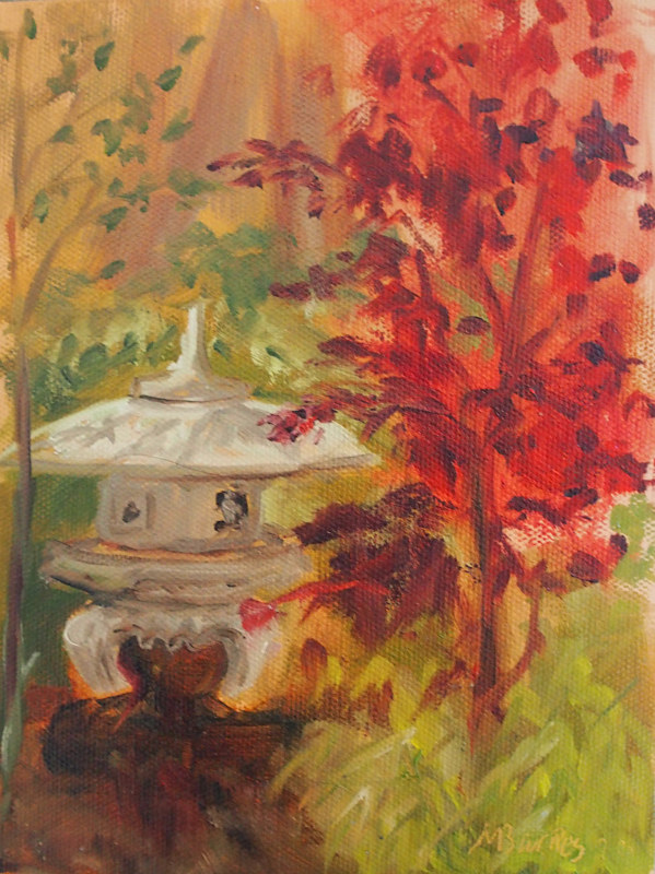 Oil painting Red Wing Park III by Michele Barnes