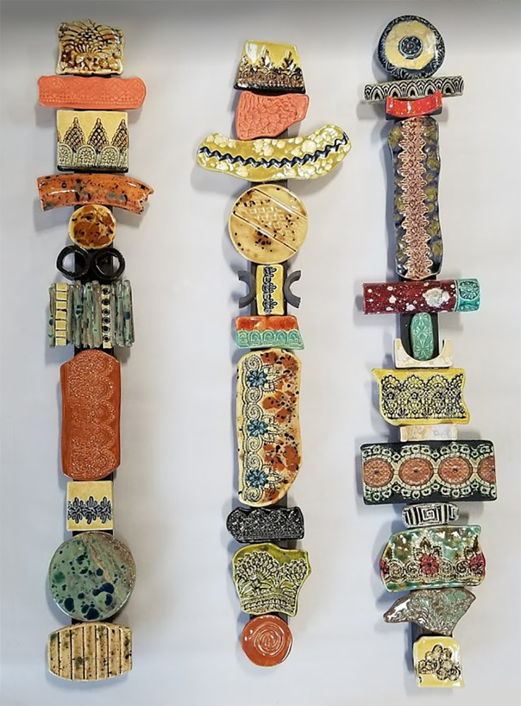 Sculpture Small Totems by Cathy Crain