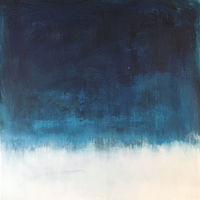 Acrylic painting Overview: In Blue by Sarah Trundle