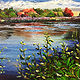 "Oil painting ""The Great Swamp"" by Elizabeth4361 Medeiros"