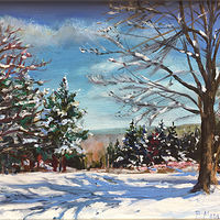 Oil painting New England Winter by Betty Ann  Medeiros