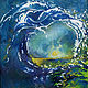 Oil painting Surfs Up by Corliss R Wall