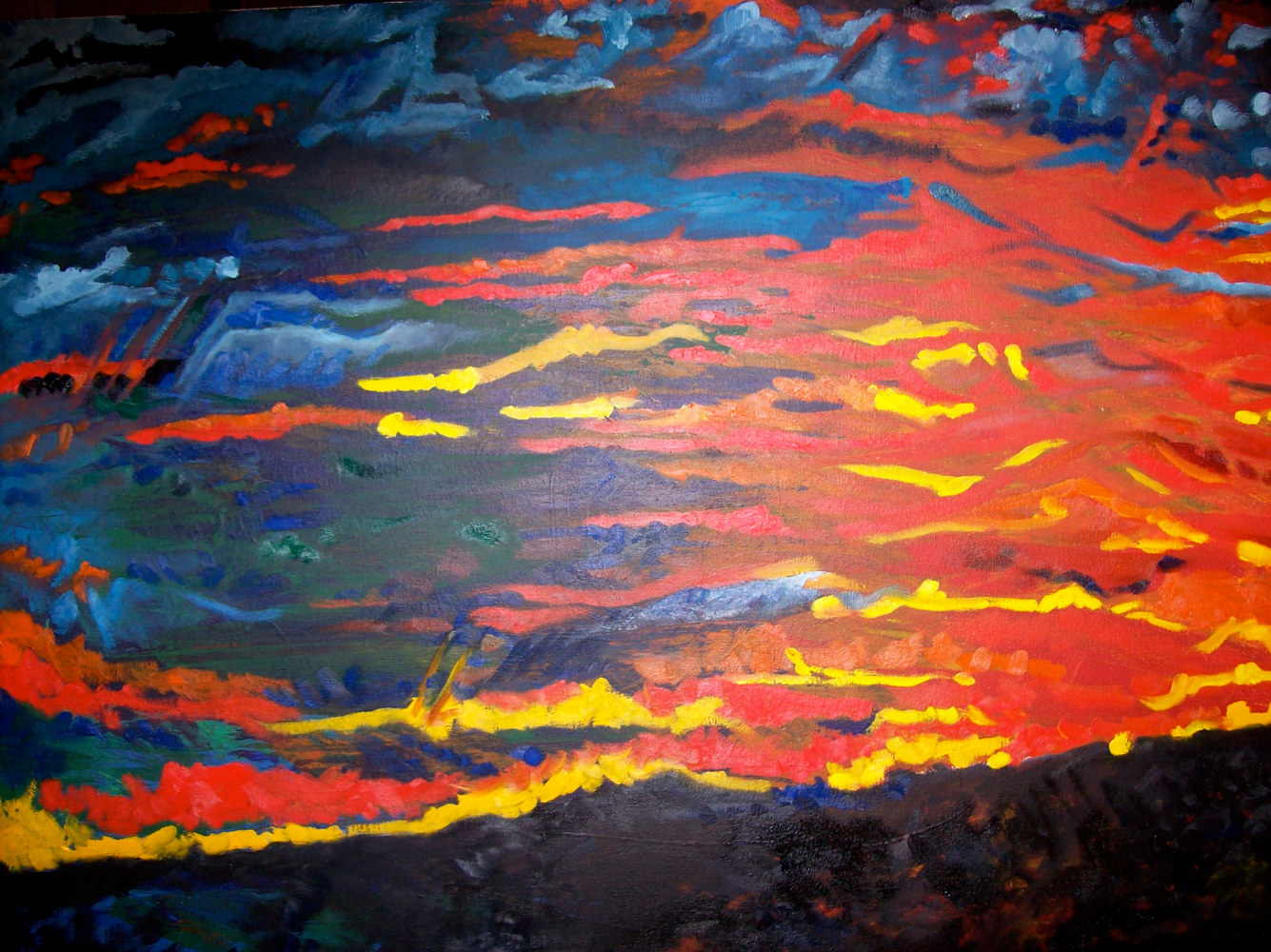 Oil painting Colorado Dreams by Corliss R Wall