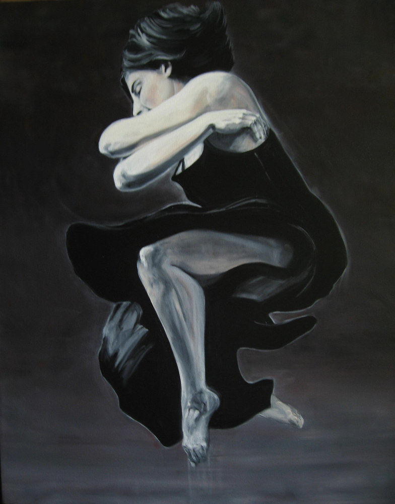 Oil painting The Leap by Judith  Elsasser