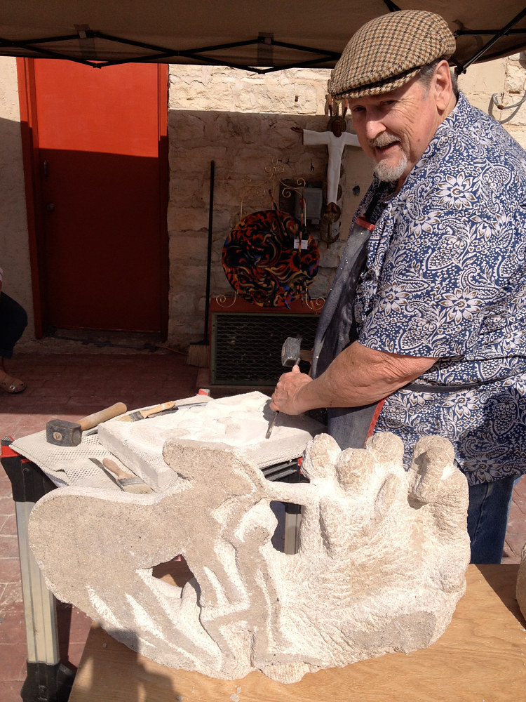 Sculpture Sculptor at work by Corliss R Wall