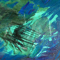 Acrylic painting Blue Seismic by Pamela Pitt