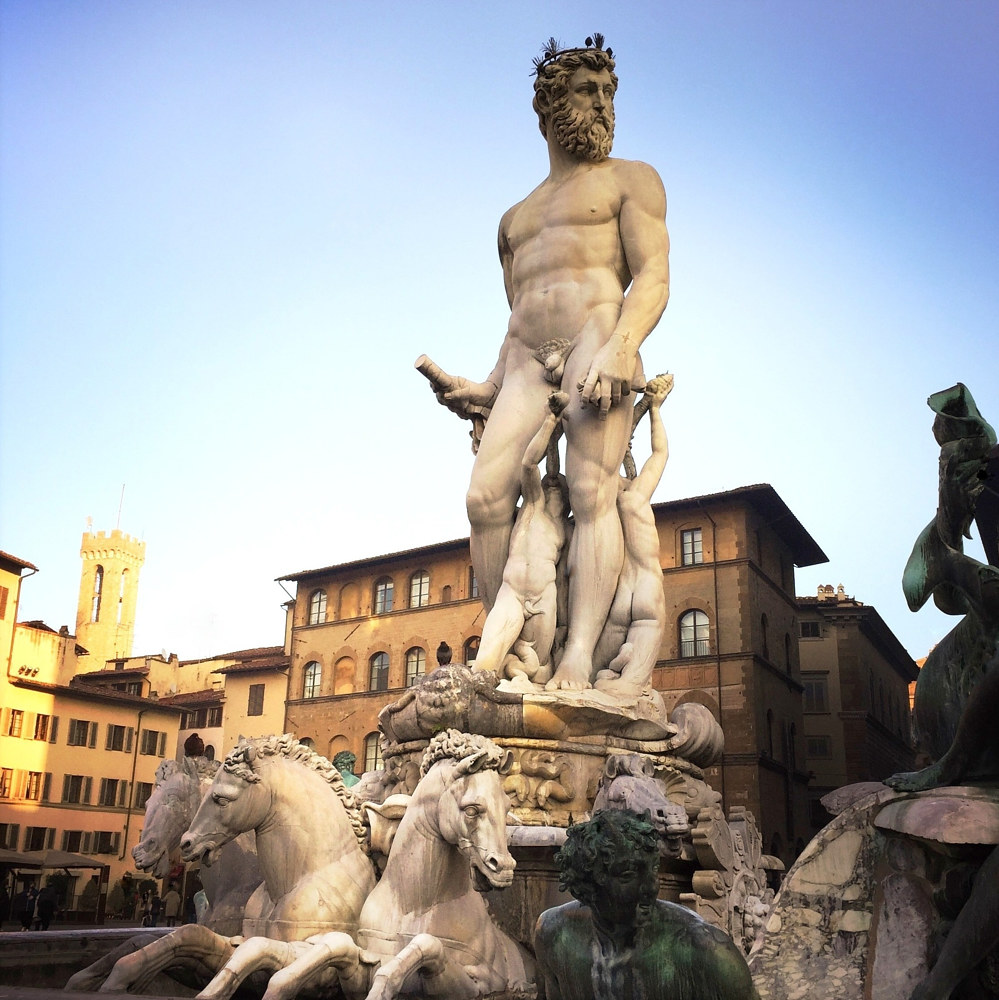 Fountain of Neptune, Florence by Susan Raines
