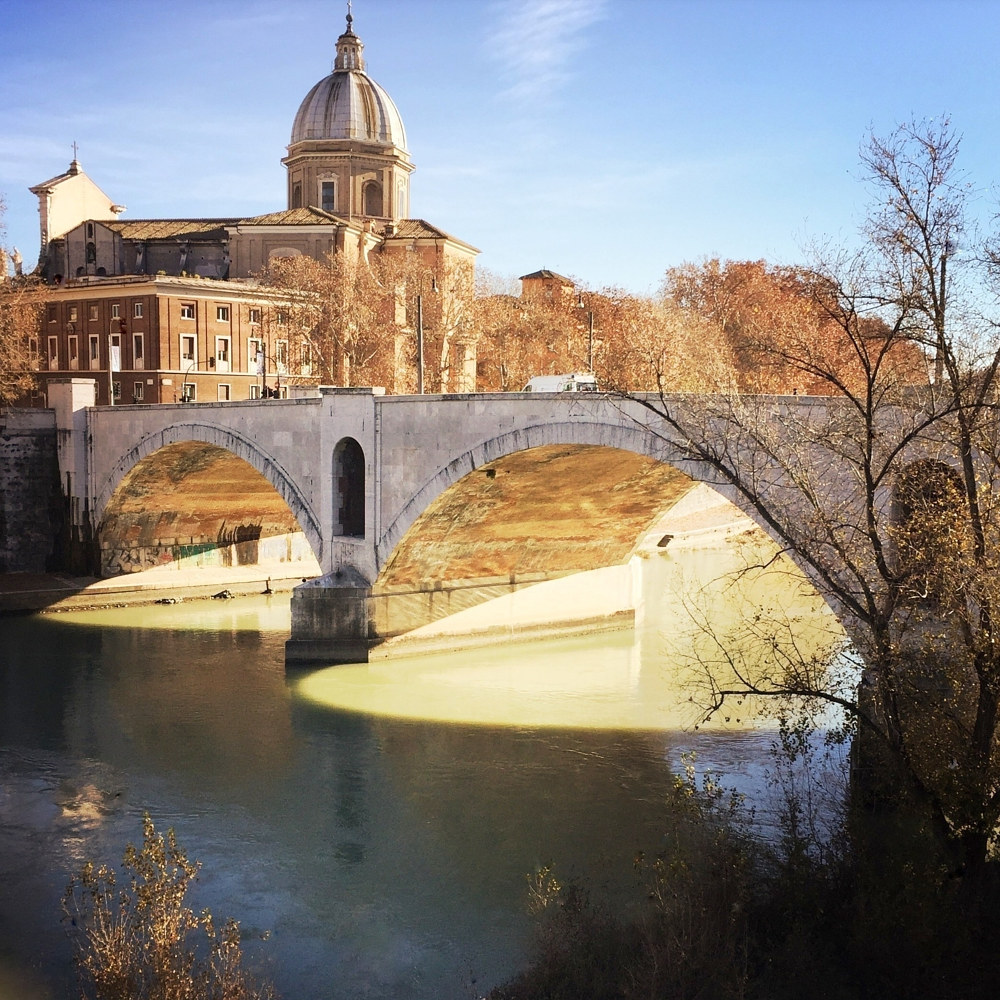 The Tiber River, Rome by Susan Raines
