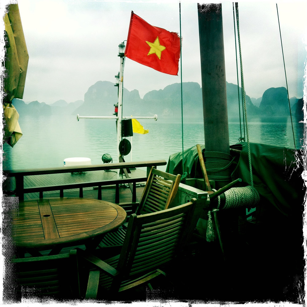 Junk Boat, Halong Bay, Vietnam by Susan Raines