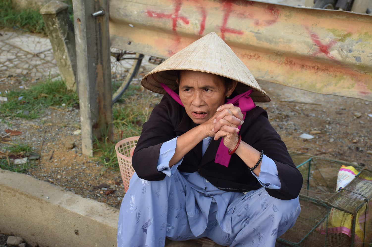 Woman in Vietnamese Market by Susan Raines