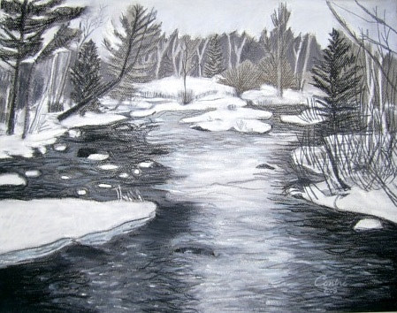 flowage n winter2 by Kathleen Contri