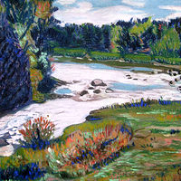 Wisconsin River Pastel2 copy by Kathleen Contri
