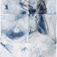 Watercolor Zolli's Blues by Clare Asch