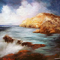 Oil painting Sea Mist by Barbara Haviland