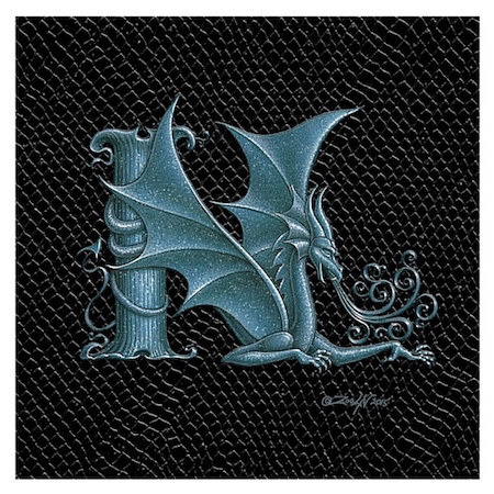 "Print Dragon N, Silver 4x4""  by Sue Ellen Brown"