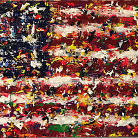 Acrylic painting we flag by Jeffrey Newman