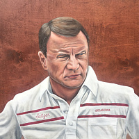 Acrylic painting Barry Switzer by Stuart  Sampson