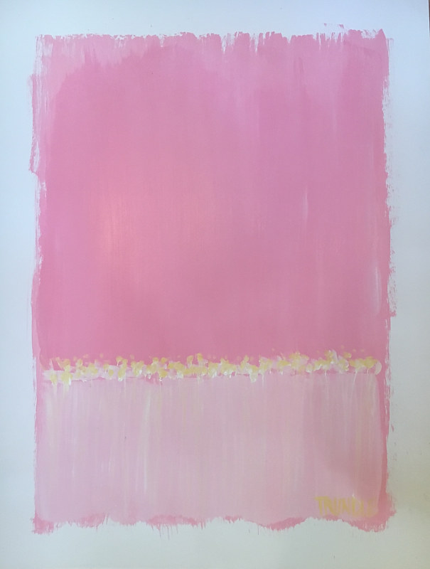 Acrylic painting Landscape Study: Hot Pink by Sarah Trundle